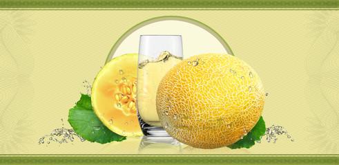Label for melon juice.