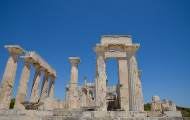 Temple of Aphaea. Aegina Island Greece