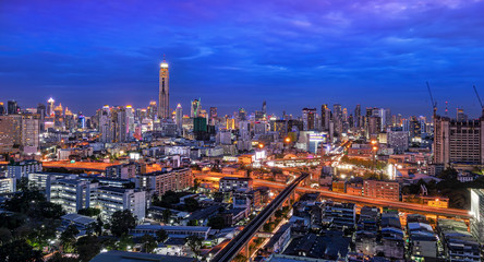 bangkok city important urban transportation in heart of bangkok thailand