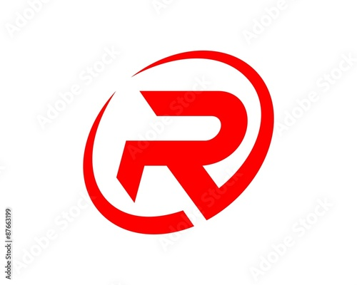 R Circle Logo Template\