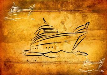 Yacht icon illustration