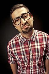 Portrait of nerd student