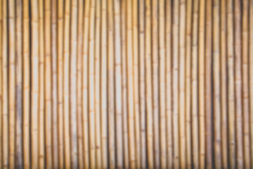 Blurred bamboo wood wall , Abstract nature background