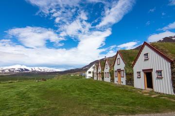 The old Laufas farm near Akureyri in northern Iceland