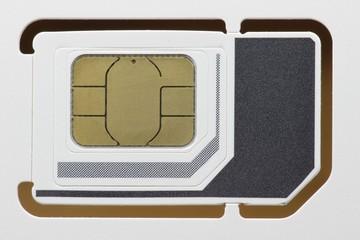 Triple SIM Karte für ein Mobiltelefon