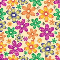 Floral colorful background.Vector