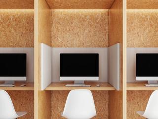 Office space, office unit, 3d render