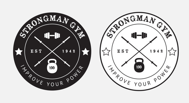 Gym logo in black and white