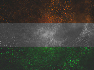 particles with india tricolors band