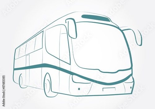 """""""BUS OUTLINE VECTOR"""" Stock Photo And Royalty-free Images"""