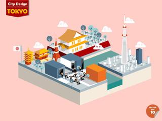 design vector of tokyo japan,tokyo city design in perspective,cute design of tokyo