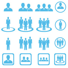 businessman team icon , businesspeople group icon ,  vector illu