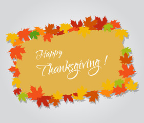 Happy thanksgiving and autumn