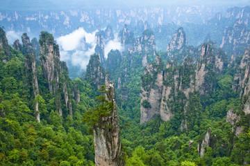 Fotomurales - 張家界・武陵源景区の奇岩群