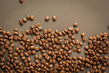 Coffee on grunge dark background