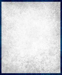 white background paper, vintage texture and distressed dark blue grunge border