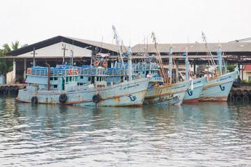 fishing boat of thai fishermen