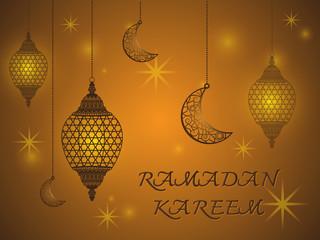 Creative Lantern of Ramadan Kareem Background