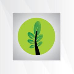 creative green tree vector illustration
