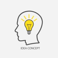 human head with idea concept
