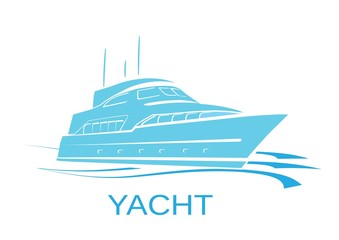 YACHT silhouette illustration vector