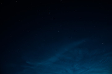 Beautiful night sky  with stars. The constellation URSA minor