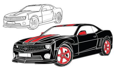 Camaro vector car