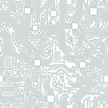 Technology abstract motherboard illustration background