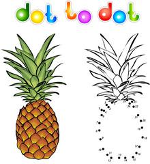 Cartoon pineapple dot to dot