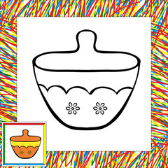 Sugar bowl coloring book