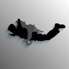 illustration silhouette of a parachute jump,skydiving
