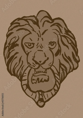 Lion Door Knocker Vintage Stock Photo And Royalty Free