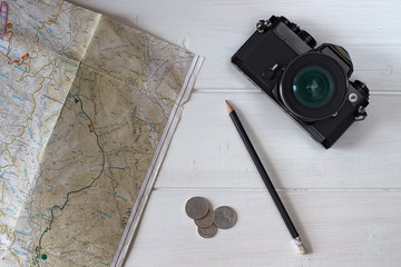 Film camera and map