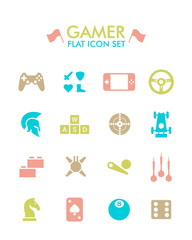 Vector Flat Icon Set - Gamer