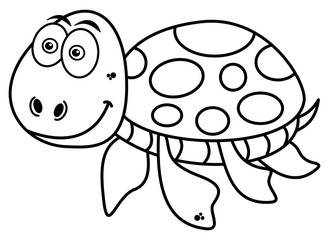 happy turtle coloring
