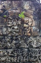 アンコールワット遺跡のラーマーヤナのレリーフ