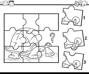 preschool jigsaw coloring game