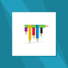 creative pencil education concept vector
