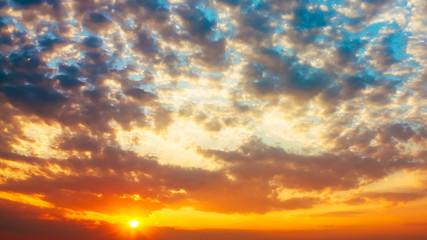 Colorful Sunset, Sunrise, Sun, Clouds