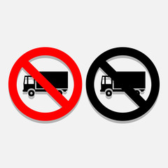 No Truck icons set great for any use. Vector EPS10.