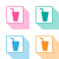 drinks & beverages icons set great for any use. Vector EPS10.