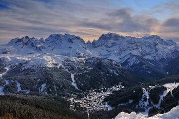 Ski Resort of Madonna di Campiglio in the Morning, Italian Alps, Italy