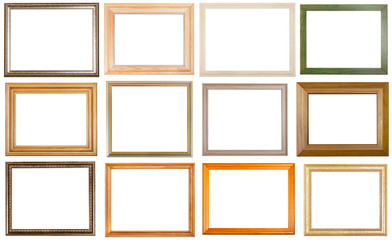 set of 12 pcs various wooden picture frames