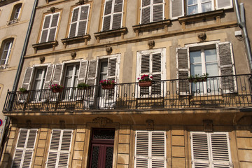 views of the historic center of Metz, France