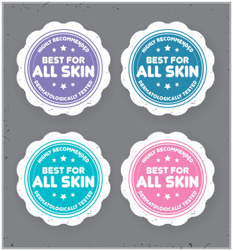 Best For All Skin  sticker.