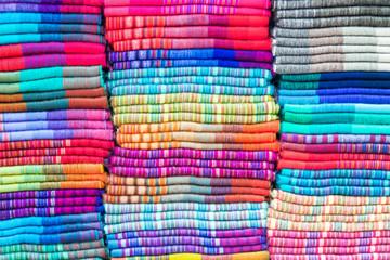 Textiles in Otavalo, Ecuador