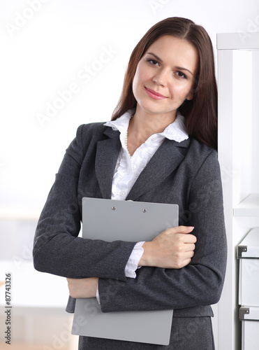 Quot Attractive Young Businesswoman Standing Near Desk With