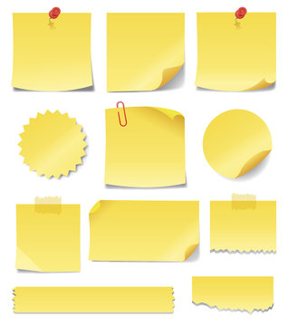 Yellow Sticky Notes. Write your own messages on these sticky notes.
