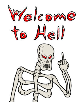 Welcome to hell message