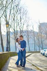 Romantic dating loving couple in Paris